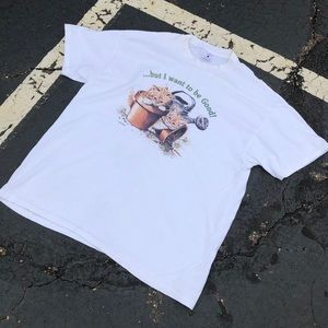 Other - Vintage 90s Kitty Cat White T-shirt